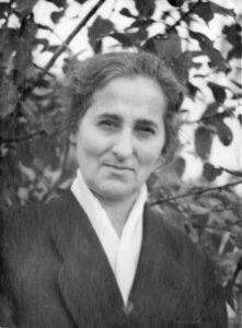 Рахиль Моисеевна Бернштейн, мать Вадима Межуева, начало 1960-х